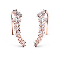 Newest design 9 stones gold hook earring models, gold earring designs