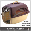 China corrugated plastic pet carrier with steel door for sale