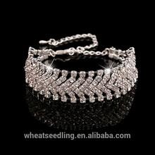 Atacado 925 pulseira de prata com cristal mulheres pulseira