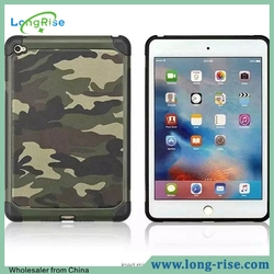 Cool Camouflage Pattern PC Silicone Hybrid Armor Case for iPad Mini 4