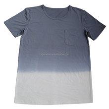 man's dip dye o-neck t-shirts
