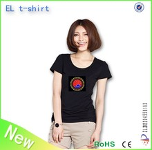 the new wireless inverter el t-shirt/ 100% cotton el t-shirt/O&V neck el t-shirt/1year warranty