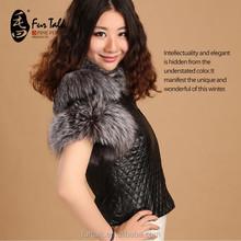 The Ladies' Fox and genuine sheep leather waistcoat