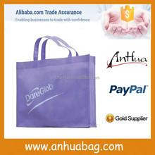 Purple shopping bag non woven