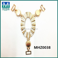 Hot selling gold metal buckle fashion sandal jewelry MHZ0038