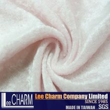 Taiwan High Quality Stretch Thin Plain 100% Polyester Velvet Fabric