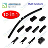 10 in 1 multi-functions New design windscreen wiper blade for general cars