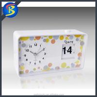 Home Decoration Manual Operation Flip Calendar Clock
