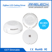 For Ceiling Light 2-channel CCT Adjustable ZigBee Wireless Remote Control LED Driver