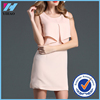 Yihao 2015 Summer New Fashion Pink Sweet Lady Dress Sleeveless O-neck Pencil Skirt Casual Dresses For Women