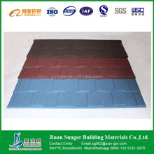 colorful stone chip coated metal roofing tiles flat tile many colors for choice