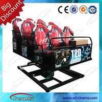Dynamic 5D cinema 5D simulator including the outside cabin/box