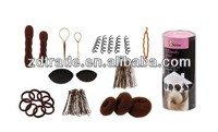 Bundle Monster 9in1 Fashion Hair Design Styling Tools Accessories Kit- Bun Maker, Roller, Braid Twist, Elastics, Pins
