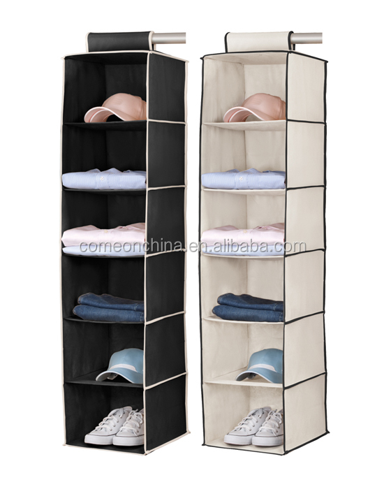 _20130305RI05_2_Pack_Black_u0026_Cream_6_Shelf_hanging_Closet_Organizer ...