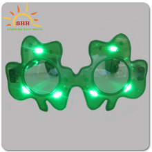 party item type Flashing Shamrock Light Up Sunglasses for gift use, hottest products 2015 light up sunglasses for christmas
