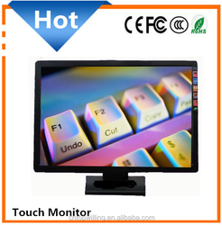 """factory supply 19 inch LCD touch screen monitor resistive type LED touch monitor 19"""" screen size, pc monitor"""
