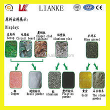 Advanced technological recycling of waste material / electronic scrap recycling / pcb recycling machine with high efficiency