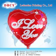Dbcy te amo en forma de corazón barato globo