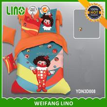 2015 newest 3d printed quilt cover set children baby cotton bedding set