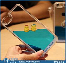 For iPhone 6 Case, Cute Duck Liquid Mobile Phone Case