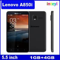 Original Lenovo A850i 5.5 inch IPS MTK6582m Quad Core mobile phone 1GB RAM 8GB ROM 5mp Android 4.2 GPS Multi Language