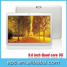 9.6''IPS 1280*800 Mtk6582 Quad Core Android tablet 3G WIFI 1G 16G in stock