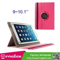 360 Degree Rotary Twill Leather Stand Shell for iPad/ for Samsung Tab 10.1 / for Sony Xperia Tablet Z /for 9-10 inch Tablet PC