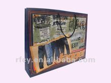 2012 hot sell paper packaging bags for jagger jeans and printing service