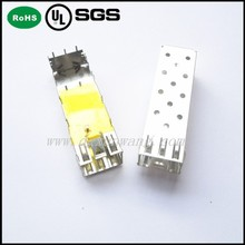 Factory price SFP 1X1 CAGE WITH EMI SPRING&GROUNDING PIN PRESS-FIT