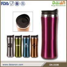 Travel thermos double wall stainless steel coffee tumbler