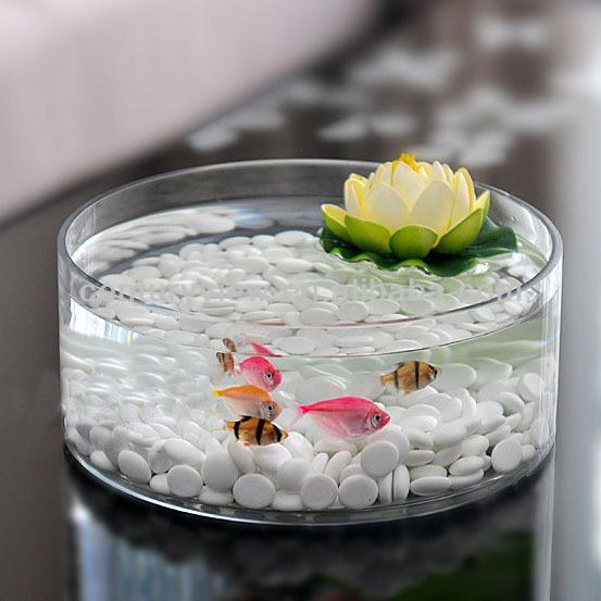 Round fish shaped decorative wholesale glass fish bowl for Decorative fish bowls