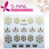 2015 3d nail decal nail sticker, 3d metallic nail stickers, 3d nail sticker decal