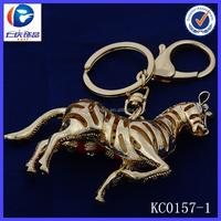 Novelty Creative Leg lift Hollow stripe Horse Fancy shaped Metal keychains