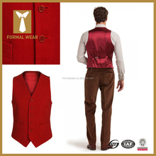 High Quality Mens Designer Red Colour Waistcoats For Men