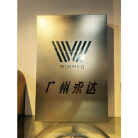 Metal stainless steel logo design company name