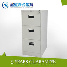 3drawer vertical powder coated knock down steel filing cabinet furniture