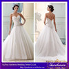 2015 New Designer Luxurious Sweetheart Neck Zipper Back Lace Applique Tulle A-line Long Train Crystal Beaded Wedding Dresses