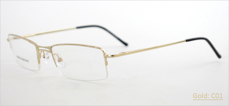 Nice Half Frame Glasses : Metal Alloy Half-rim Men Wholesale Stylish Nice Glasses ...
