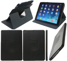 2015 italian PU Leather dash folio spin stand flip rotate 360 degrees Table Leather case cover for apple ipad air