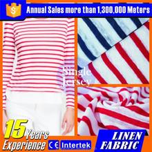 2016 wholesale 100% linen fabric hot sale knitting for summer t-shirt