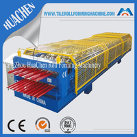 Europe CNC Double Steel Roof Tile Making Machine Manufacturing Line