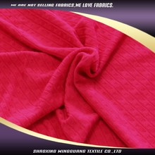 China manufacture soft knit red twill girls types of jacket fabric material