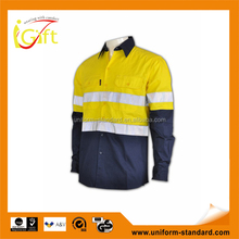 Wholesale High quality OEM services cheap Green reflective shirts for work