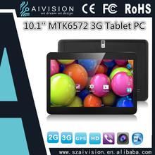 MTK 6572 GPS Bluetooth WIFI 3G 10 inch tablet pc dual sim