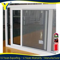 Double glazing sliding window with mosquito net / aluminium waterproof/soundproof sliding windows