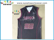 Personalized excellent quality basketball tops for trainning team