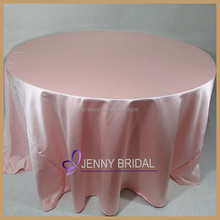 TC064B 2015 pink wedding banquet decorations cheap polyester tablecloths and chair covers for sale