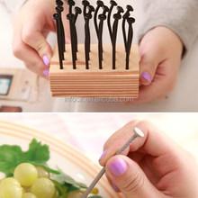 creative design nail fruit foorks/forks set
