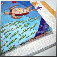 Sea animal printed super soft and absorbent microfibr bath towels