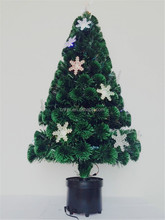 Color Changing Fiber Optic Christmas Tree With Snowflake Tree Topper